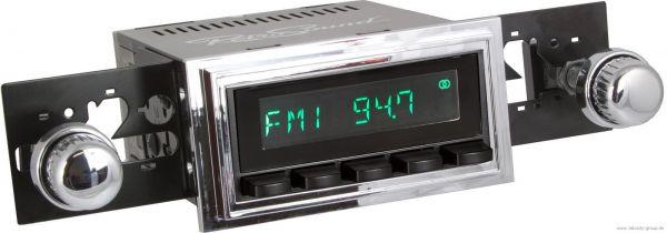 67-68 Ford Mustang Radio - RetroSound Model 2 - Bluetooth schwarz