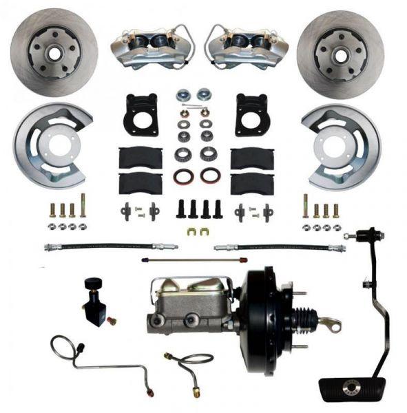 67-69 Ford Mustang Umrüstsatz Bremsanlage - Vorne - Glatt - Mit HBZ und mit BKV - Automatikgetriebe