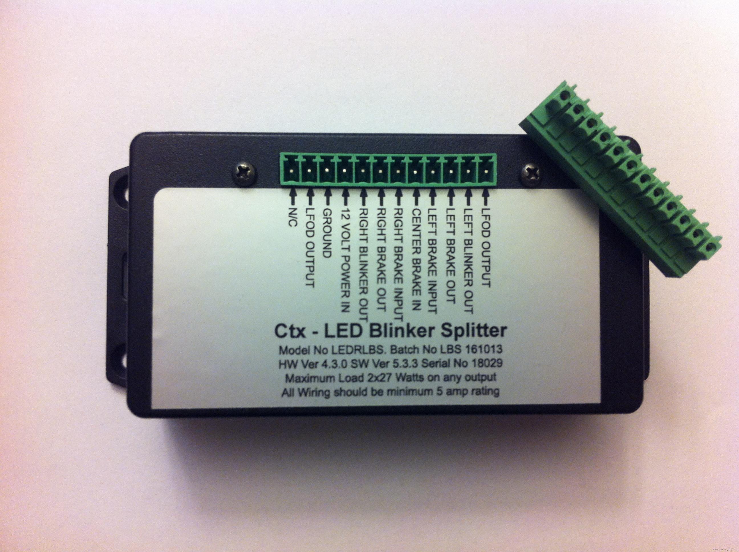 Signaltrenner für Blinker/Bremse in Rücklichter