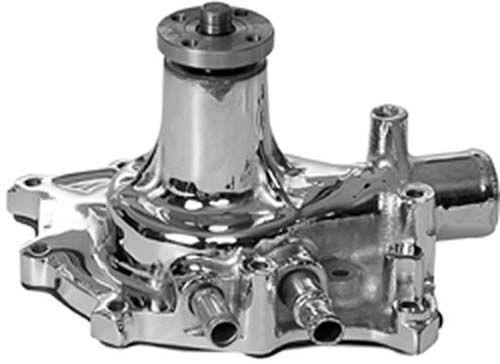 Water Pump, SuperCool, Standard Volume, Iron, Chrome, Ford, 289, 302, 351W,  Each