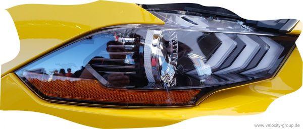 18-19 Ford Mustang  Steinschlag Schutzfolie für Scheinwerfer