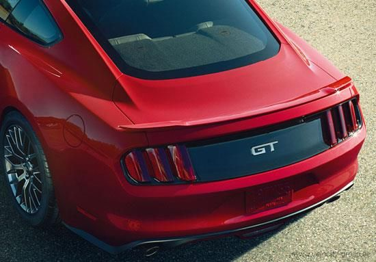 15-20 Ford Mustang Coupe Spoiler - Ford OEM-Style - Groß